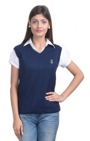 Eprilla Solid V-neck Casual, Formal, Festive Women's Sweater @ Rs 349