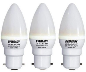 Eveready 0.5 W LED Combo Pack Bulb (White, Pack of 3) Price Rs. 149