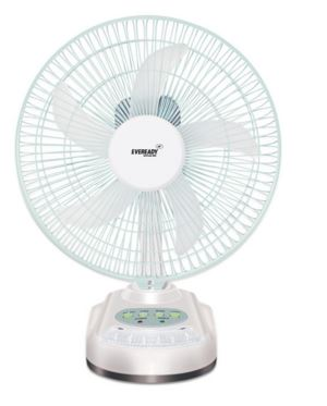 Eveready 10 Inch Rechargeable Table Fan with LED Light @ Rs 1569