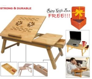 Everything Imported TM Best Multipurpose Laptop Table Durable Strong  Portable E-Table Computer PC Desk Free Ring Gift Box