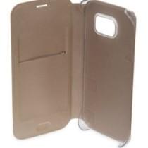 Flip Wallet Case Cover For Samsung Galaxy S6 Edge Golden