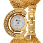 GLORY GOLDEN FANCY JAAL LADIES WATCH @ Rs 222 only