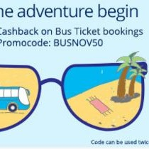 Get 50 Cashback on bus ticket bookings