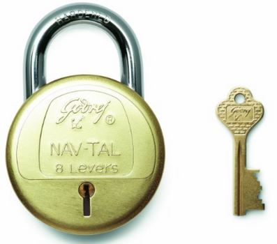 Godrej Locks Navtal 8 Levers Deluxe Hardened - 3 Keys