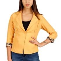 Hermosear Full Sleeve Self Design Women's Solid Jacket