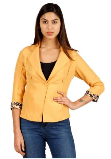 Hermosear Full Sleeve Self Design Women's Solid Jacket