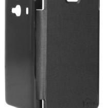 High Quality flip cover for Xiaomi Redmi 2 (Black) + Screen Guard (Front)