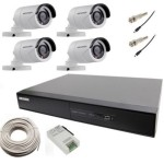 Hikvision Hybrid Video Recorder 5 Channel Home Security Camera(4 TB) @ Rs 22000