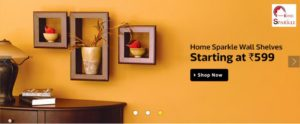 Home sparkle wall shelves starting at Rs 599