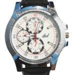 Ikd Black Leather Strap Fashion Analog Watch – For Men Price: Rs. 240