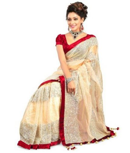 IndiansEFashion Self Design Bollywood Net Sari @ Rs 688