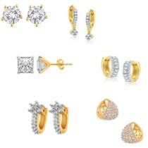 Jewels Galaxy Precious Collection AD JGR555 Alloy Earring Set