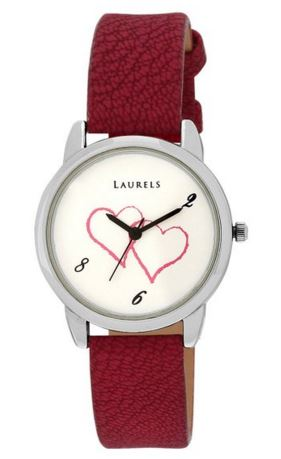 Laurels Original February White Dial Women's Watch (Lo-Feb-101)
