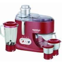 Maharaja Whiteline Ultimate Red Treasure JX-101 550-Watt Juicer Mixer Grinder (Red Silver)