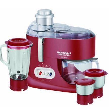 Maharaja Whiteline Ultimate Red Treasure JX-101 550-Watt Juicer Mixer Grinder (Red/Silver)