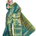 Mimosa Self Design Kanjivaram Silk Saree @ Rs 1499