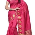 Mimosa Woven Kanjivaram Handloom Tussar Silk Saree @ Rs 999