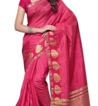Mimosa Woven Kanjivaram Handloom Tussar Silk Sari