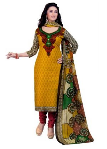 Miraan Cotton Printed Salwar Suit Dupatta Material(Unstitched) @ Rs 569