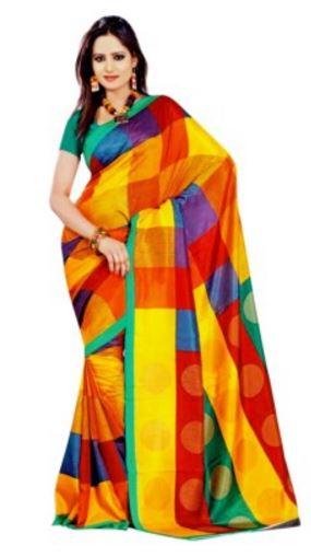 Miraan Printed Mysore Art Silk Sari Price: Rs. 489