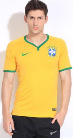 Nike Solid Men's V-neck T-Shirt @ Rs 1258