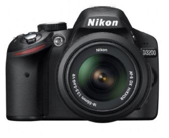 Amazon Nikon D3200 24.2 MP Digital SLR Camera (Black) with AF-S 18-55mm VR II Kit Lens, 8GB Memory Card,