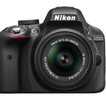 Nikon D3300 24.2 MP Digital SLR Camera (Black) with 18-55mm VR II Lens Kit with 8GB Card and Camera Bag