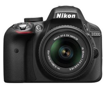 Amazon Nikon D3300 24.2 MP Digital SLR Camera (Black) with 18-55mm VR II Lens Kit with 8GB Card
