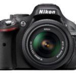 Amazon Nikon D5200 24.1MP Digital SLR Camera (Black) with AF-S 18-55mm VRII Lens and AF-S DX VR Zoom-NIKKOR 55-200mm f/4-5.6G IF-ED Twin Lens 8GB Card, Camera Bag