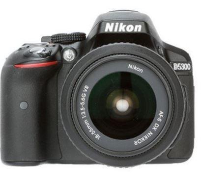 Nikon D5300 Digital SLR Camera (Black) with AF-S DX 18-55mm VR II and AF-S DX 55-200mm VR II , Double Zoom Kit with 8GB Card, Camera Bag