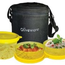 Oliveware Lovely Little 3 Containers Lunch Box(250 ml)