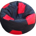 Orka XL Bean Bag With Bean Filling (Black, Red) Price: Rs. 1,499