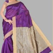 Pavechas Striped Banarasi Cotton Saree