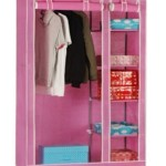 Pindia Metal Free Standing Wardrobe (Finish Color – Pink) Price: Rs. 2,099