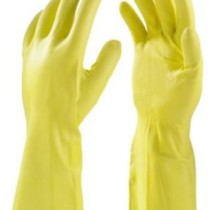 Primeway Rubberex Latex Household Rubber Hand Gloves, Large, 1 Pair, Yellow