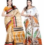 S.B Textiles Printed Fashion Art Silk Sari (Pack of 2) Price: Rs. 529