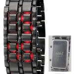 Amazon : SHVAS – Iron Samurai LED Bracelet Watch @ Rs 298