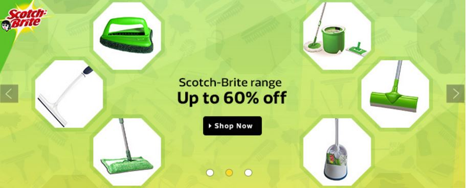 Flipkart Offer minimun 50%  discount on the Scotch-Brite™  products