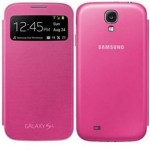 Smart View Flip Cover for Samsung Galaxy S4 Mini (Pink) @ Rs 229