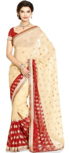 Soch Embriodered Fashion Georgette Sari @ Rs 2898