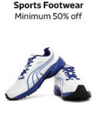 Sports footwer minimum 50 percent off