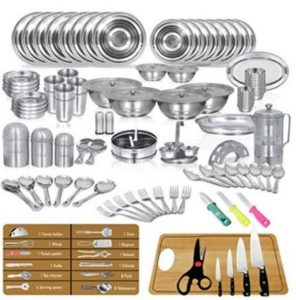 Stainless Steel Kitchenware Dinner Set of 111 pcs - Sagene