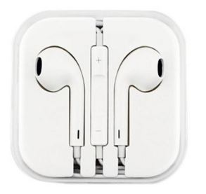 Stereo Handsfree Headset in-ear Earphones Flat Wired Dual Earbuds w Microphone