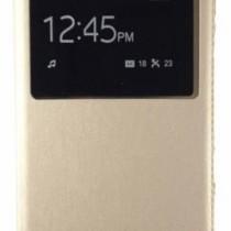 Sun Mobisys Call iD Flip Cover for Samsung Galaxy E7 Champagne Gold