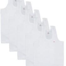 T.T. Men's Titanic RN Cotton Vest (Pack Of 5) [White]