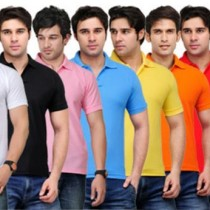 TSX Solid Men's Polo T-Shirt (Pack of 8) Price Rs. 1699