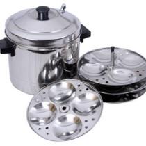 Tallboy SS Murgan Cooker 4 plates Induction Idli Maker(4 Plates)