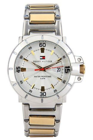 Tommy Hilfiger Analog Silver Dial Men's Watch