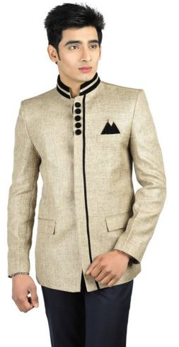 Traditional Silver Colored Jute Blazer