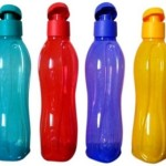 Tupperware Aquasafe 750 ml Water Bottles (Set of 4, Dark Green, Yellow, Blue, Red) Price: Rs. 799